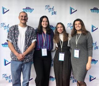 Student winners at film festival