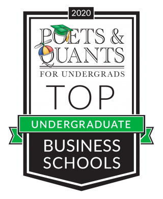 Logo for Poets & Quants undergraduate business program rankings