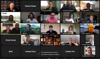 Attendees of Zoom chat.