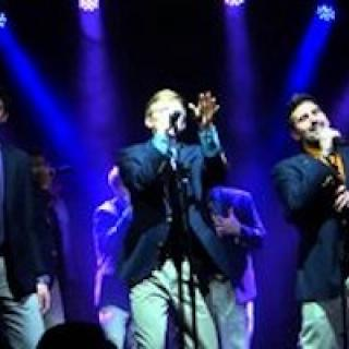 Ithaca's all male a cappella group, Ithacappella, during a concert