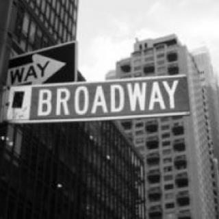 a picture of the Broadway street sign