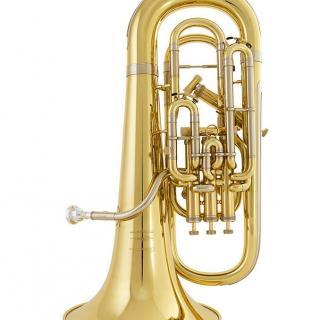 Closeup of a euphonium.