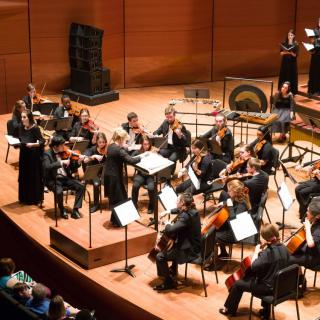 An ensemble on stage