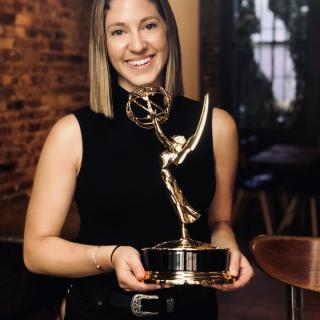 Bethany George with Emmy