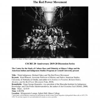Black and White Poster for Red Power Movement on 12/5/19